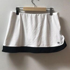 Wilson White & Black Tennis / Golf Skirt